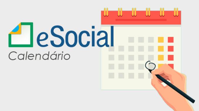 Alteração no calendário eSocial